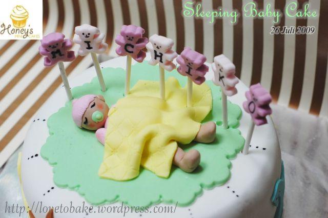 sleeping baby cake 2