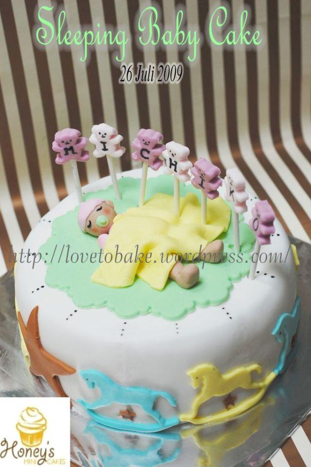 sleeping baby cake 3