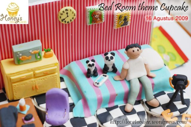 Bed room theme Cupcake 4