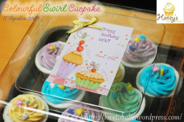 colourful swirl cupcake 2