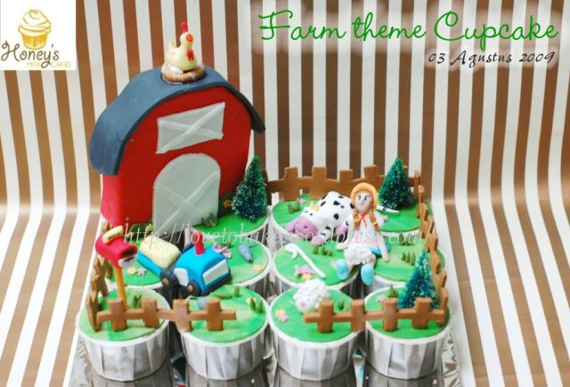 farm theme Cupcake-1