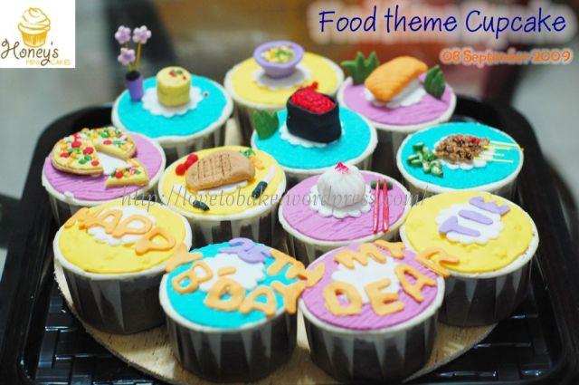 Food theme cupcake 1