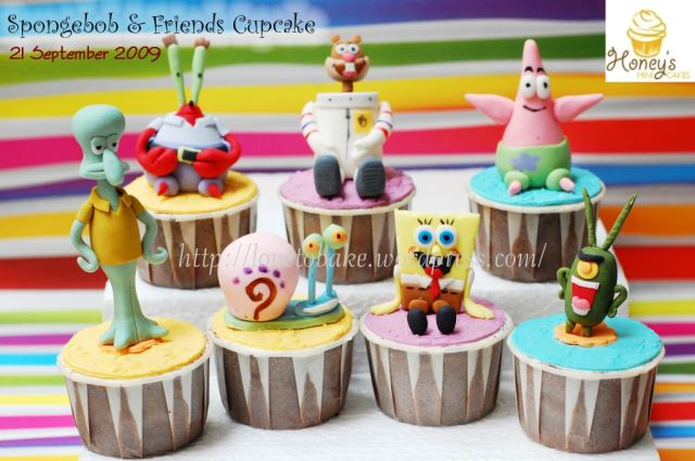 spongebob&friends cupcake 1