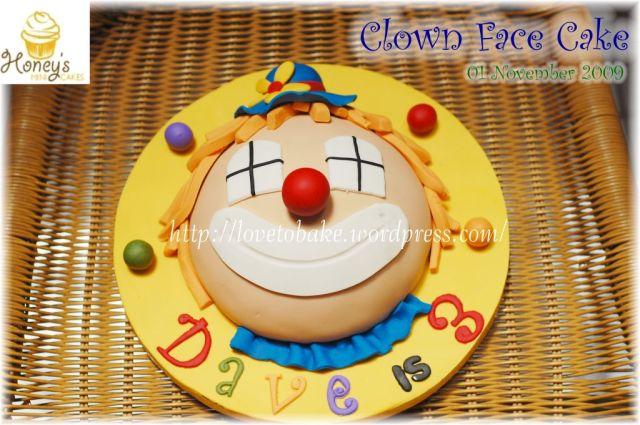 Clown Face Cake