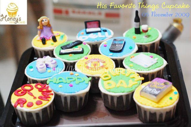 His Favorite Things Cupcake