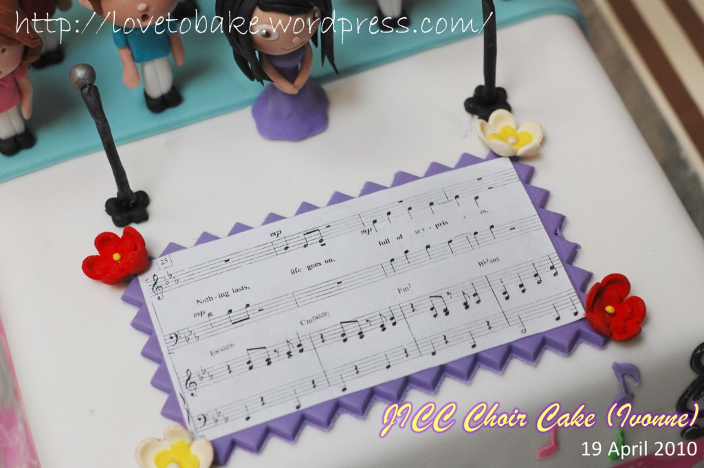 JICC Choir Cake (Ivonne) – Honey's Mini ...