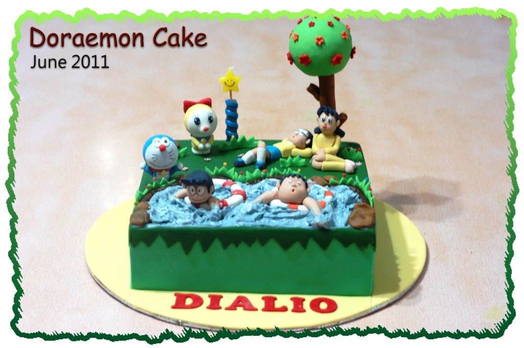 Doraemon Images For Cake : Doraemon Cake   Honey s Mini Cakes