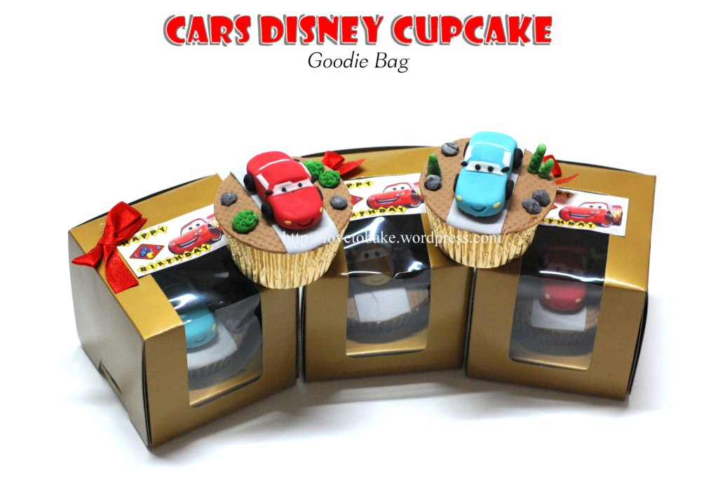 Cars Disney Cupcake Story Goodie Bag Honeys Mini Cakes