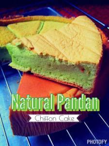 Natural Pandan Chiffon Cake