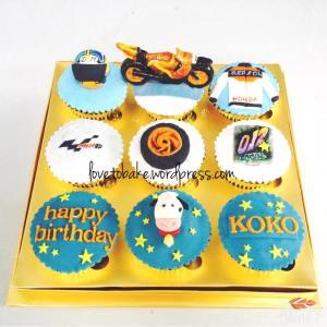Cupcake set 9-Motor Balap 1