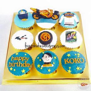 Cupcake set 9-Motor Balap 2
